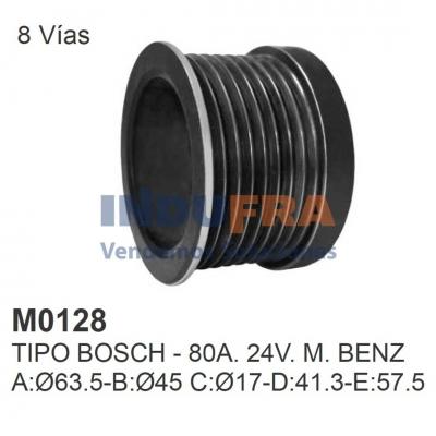 POLEA ALT BOSCH M.BENZ 80A 24V 8 VIAS