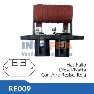 RESISTENCIA ELECTRO FIAT PALIO SIENA DIESEL NAFTA ROJA C/Acon