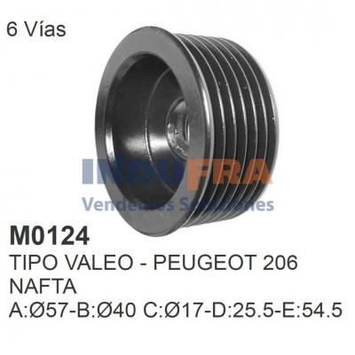 POLEA ALT VALEO PEUGEOT 206 6 VIAS