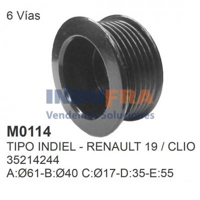 POLEA ALT INDIEL RENAULT 19 CLIO 35214244 6 VIAS