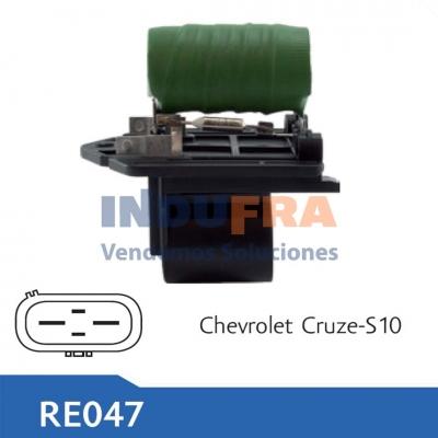 RESISTENCIA ELECTRO CHEVORLET CRUZE S10 TRACKER