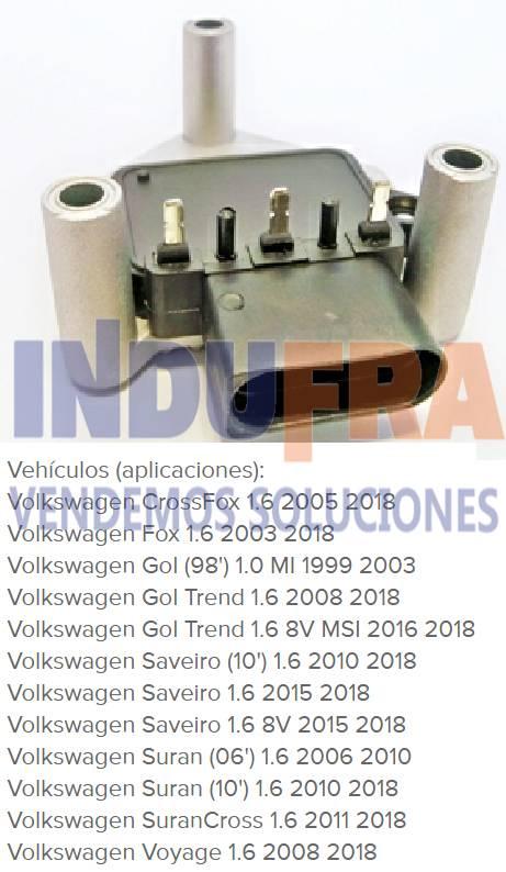 MODULO REGITAR VW GOLF FOX SURAN GOL TREND
